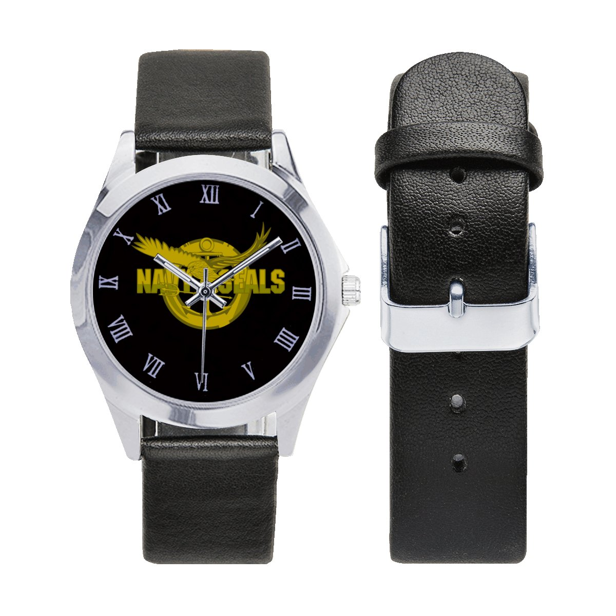 Navy Seals US logo Watches Leather Strap Watch Wrist Watches a perfect accessory