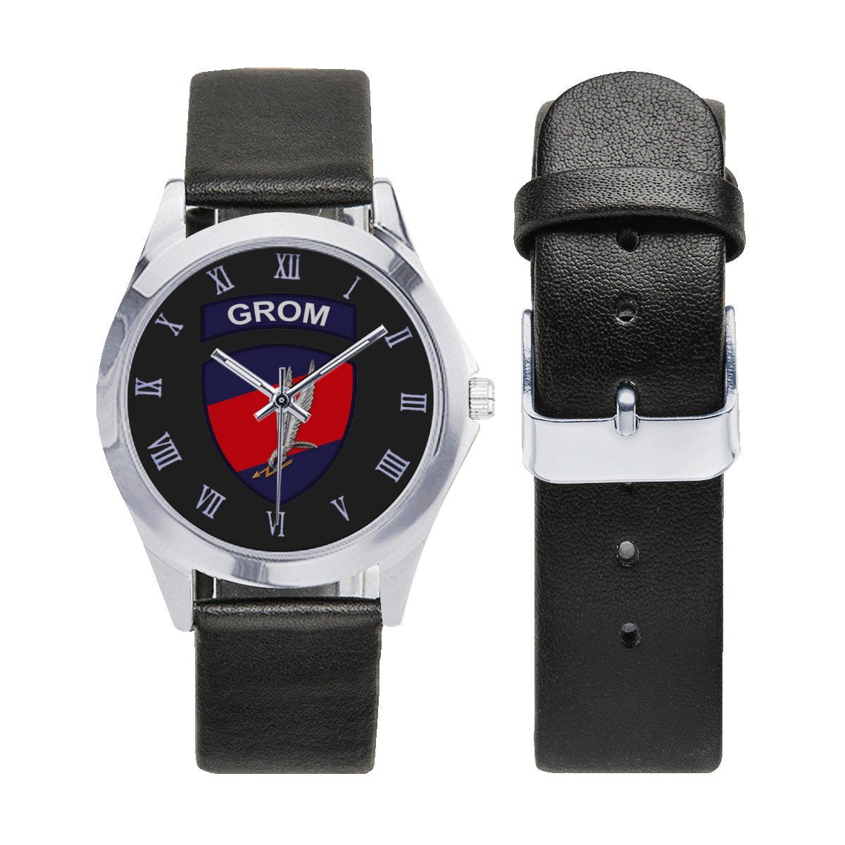 GROM Poland Elite Unit Special Force Leather Strap Watch Wrist Watches a perfect accessory