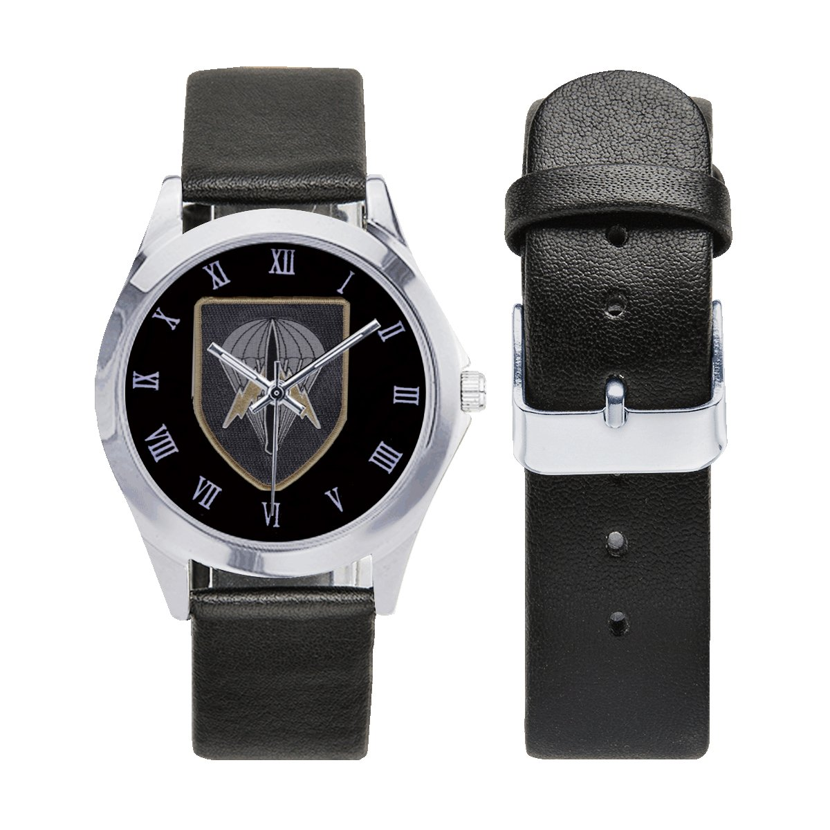 Austria Jagdkommando army special forces Logo Leather Strap Watch a perfect accessory