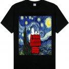 Peanuts - Starry night (Van Gogh) Most Popular T-Shirts Tee unique Shirts trends 100 % Cotton