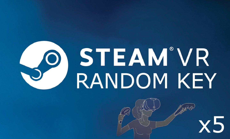 x5 Random Steam VR Key Game Pc Cd SteamVR Global Delivery Fast (REGION FREE)