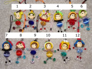 Crystal Kids Cell Phone Strap / Key Chain Figure