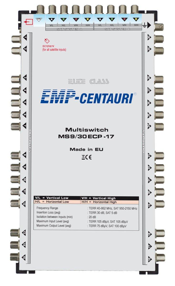 Satellite multiswitch 9/30 (9x30) MS9/30ECP-17, Made in EU, 4yrs. WNTY
