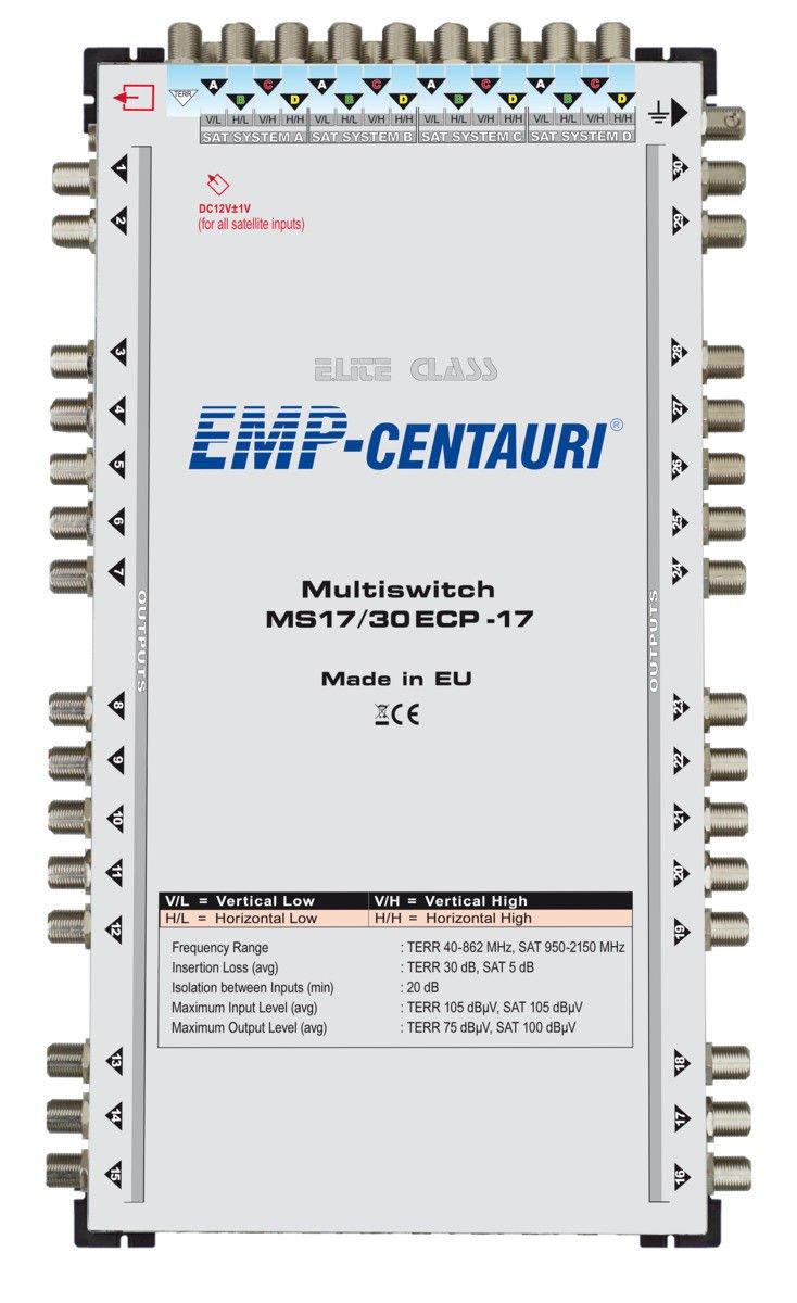 Satellite multiswitch 17/30 (17x30) MS17/30ECP-17, Made in EU, 4yrs. WNTY
