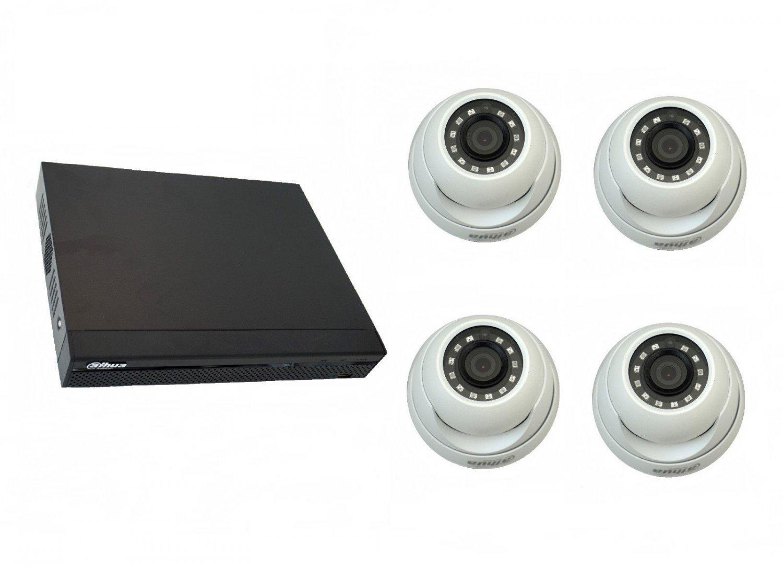 Dahua DHI-XVR5104HS-S2 Dig. Video Recorder + 4 cameras DAHUA HAC-HDW1000MP-0280