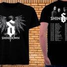 SHINEDOWN TOUR DATES 2018 Tshirt Black Color 100% Cotton