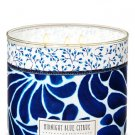 Bath & Body Works White Barn Midnight Blue Citrus Scented Candle
