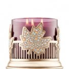 Bath & Body Works Pinstripes & Leaves Candle Sleeve