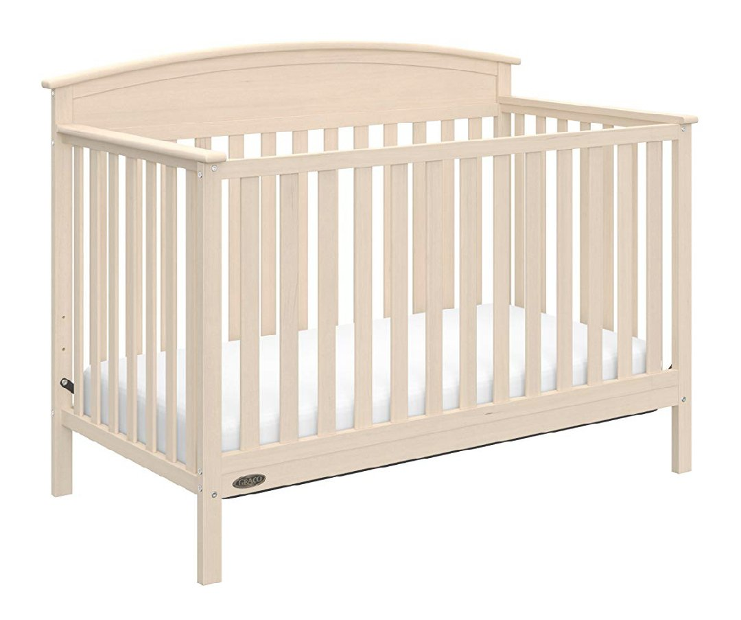 Graco Benton 5-in-1 Convertible Crib, Whitewash