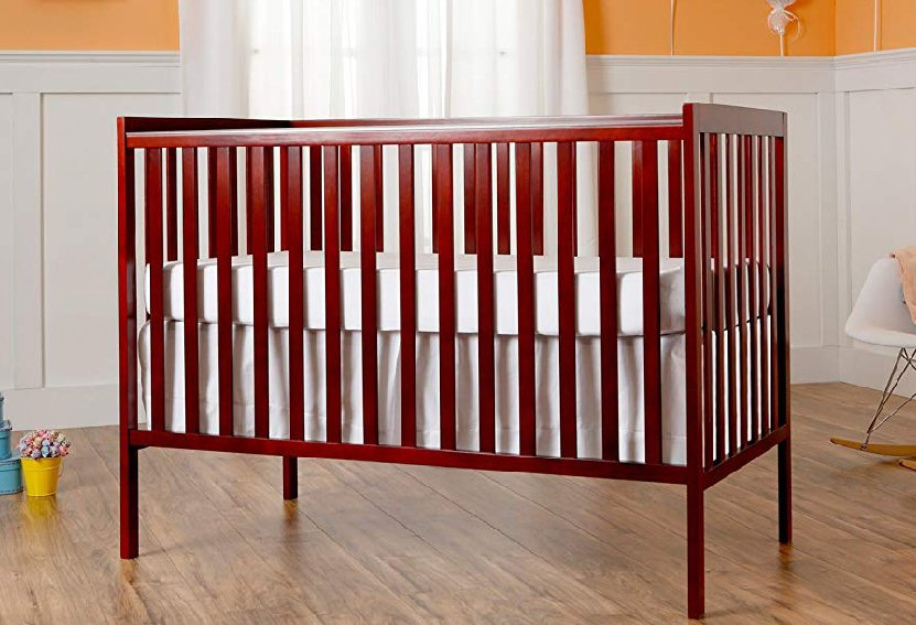 Dream On Me Synergy 5-in-1 Convertible, Crib, Cherry