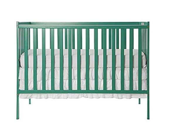 Dream On Me Synergy 5-in-1 Convertible, Crib, Emerald with Mattress
