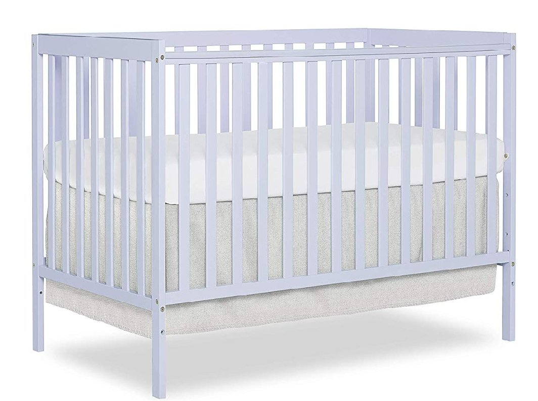 Dream On Me Synergy 5 in 1 Convertible Crib, Lavender Ice
