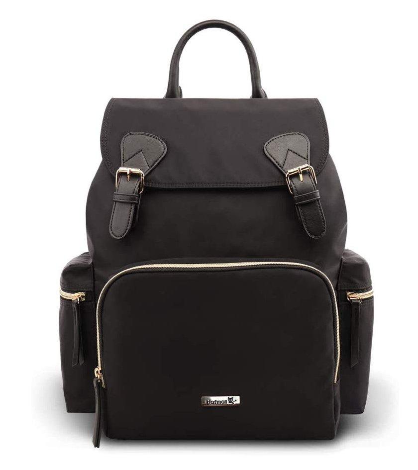 Hafmall Diaper Bag, Waterproof Multi-Function Travel Baby Backpack Diaper Bag(Black)