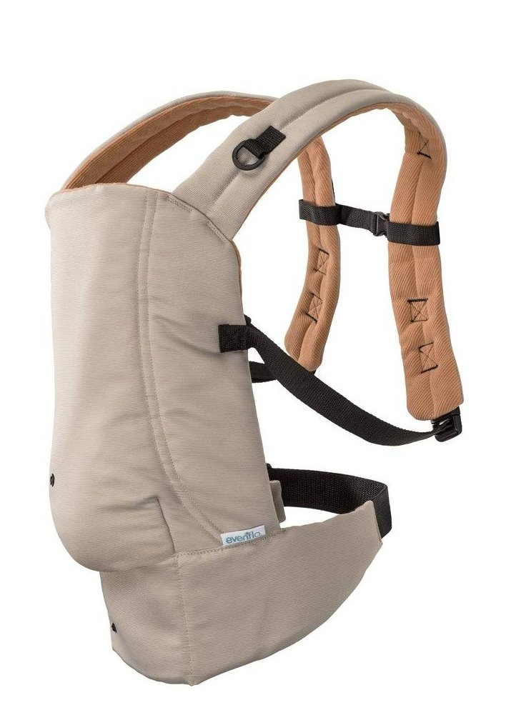Evenflo Natural Fit Soft Carrier, Khaki Orange