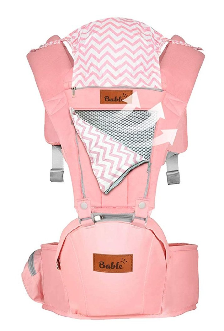 Bable Baby Carrier with Hip Seat, 6-in-1