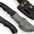 "10"" Custom Damascus Steel Tracker-Outdoor-Survival knife"