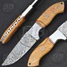 """8.0"""" Excellent Damascus Steel Full Tang Skinner knife-BB-1001"""