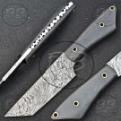 """8.5"""" Great Damascus Steel Full Tang Skinner knife-BB-1003"""