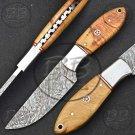 """8.0"""" Superb Damascus Steel Full Tang Skinner knife-BB-1004"""