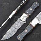 """9.5"""" Marvelous Damascus Steel Full Tang Skinner knife-BB-1005"""