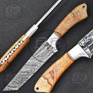 """11.5"""" Stunning Damascus Steel Full Tang Tanto knife-BB-1006"""