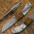 7.5″ Custom Hand Forged Damascus Steel Skinner Resin Knife (BB-S1042)