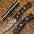 7″ Custom Hand Forged Damascus Steel Skinner Micarta Knife (BB-S1054)