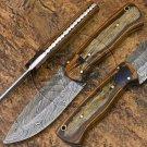 8.5″ Custom Hand Forged Damascus Steel Skinner Hard Wood Knife (BB-S1062)