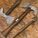 10″ Hand Forged Functional Damascus Steel Rosewood Axe-Tomahawk-Hatchet (BB-AX1076)