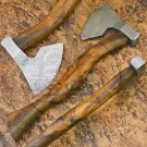 10.5″ Hand Forged Functional Damascus Steel Rosewood Axe-Tomahawk-Hatchet (BB-AX1078)
