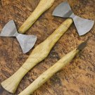 11.5″ Hand Forged Functional Damascus Steel Double Edged Head Axe-Tomahawk (BB-AX1079)