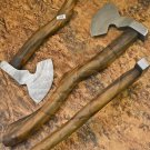 12.25″ Hand Forged Quality Damascus Steel Rosewood Axe-Tomahawk-Hatchet (BB-AX1081)