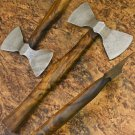 10″ Hand Forged Functional Damascus Steel Double Edged Head Axe-Tomahawk (BB-AX1082)