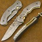 8.25″ Custom Hand Forged Damascus Steel Folding Knife (BB-F1195) 160.00