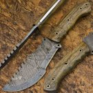 11.5″ Custom Hand Made Damascus Steel Walnut Wood Tracker Knife (BB-TR106)
