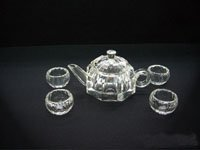 Excellent crystal chinese tea kettle set