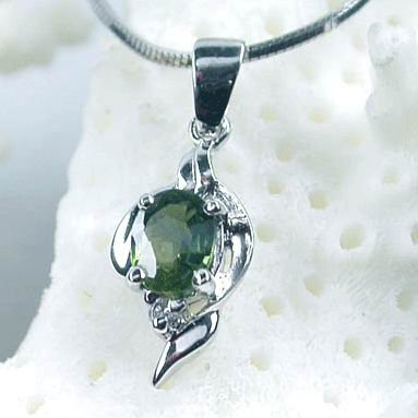 Brand 'LIYING' 925 Sterling Silver Pendant With Natural Diamond