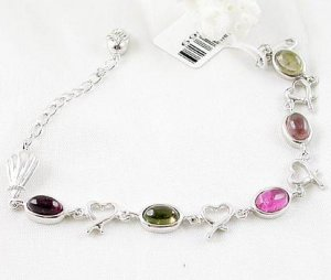 Brand 'LIYING' 925 Sterling Silver Bracelet With Natural Diamond