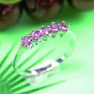Brand 'LIYING'  Elegant 925 Sterling Silver Ring with Nature Ruby
