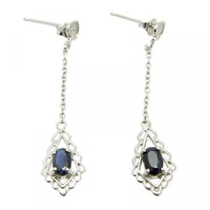 Brand 'LIYING' 925 Sterling Silver Earrings with Nature  Diamond