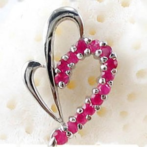 Brand 'LIYING'  Elegant 925 Sterling Silver Pendants with Nature Ruby
