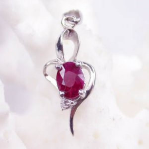 Brand 'LIYING'925 Sterling Silver Pendant with Natural Ruby