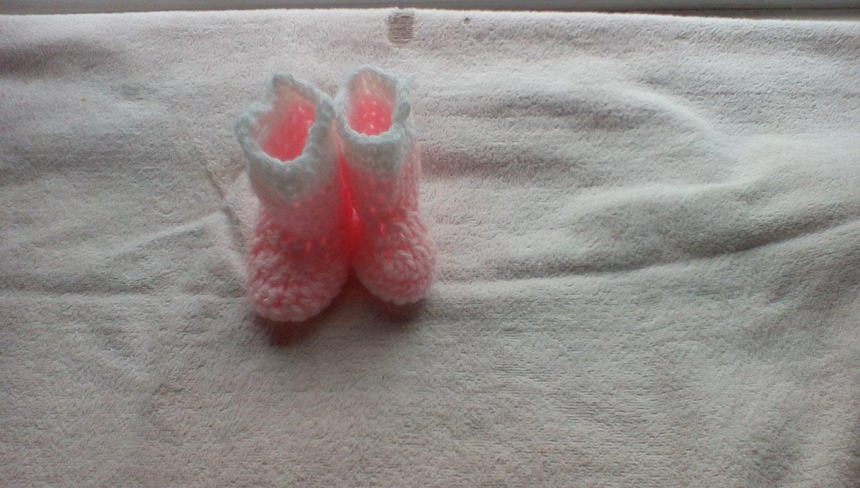 Pink newborn rainboot