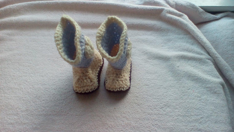 Newborn light blue cowboy booties