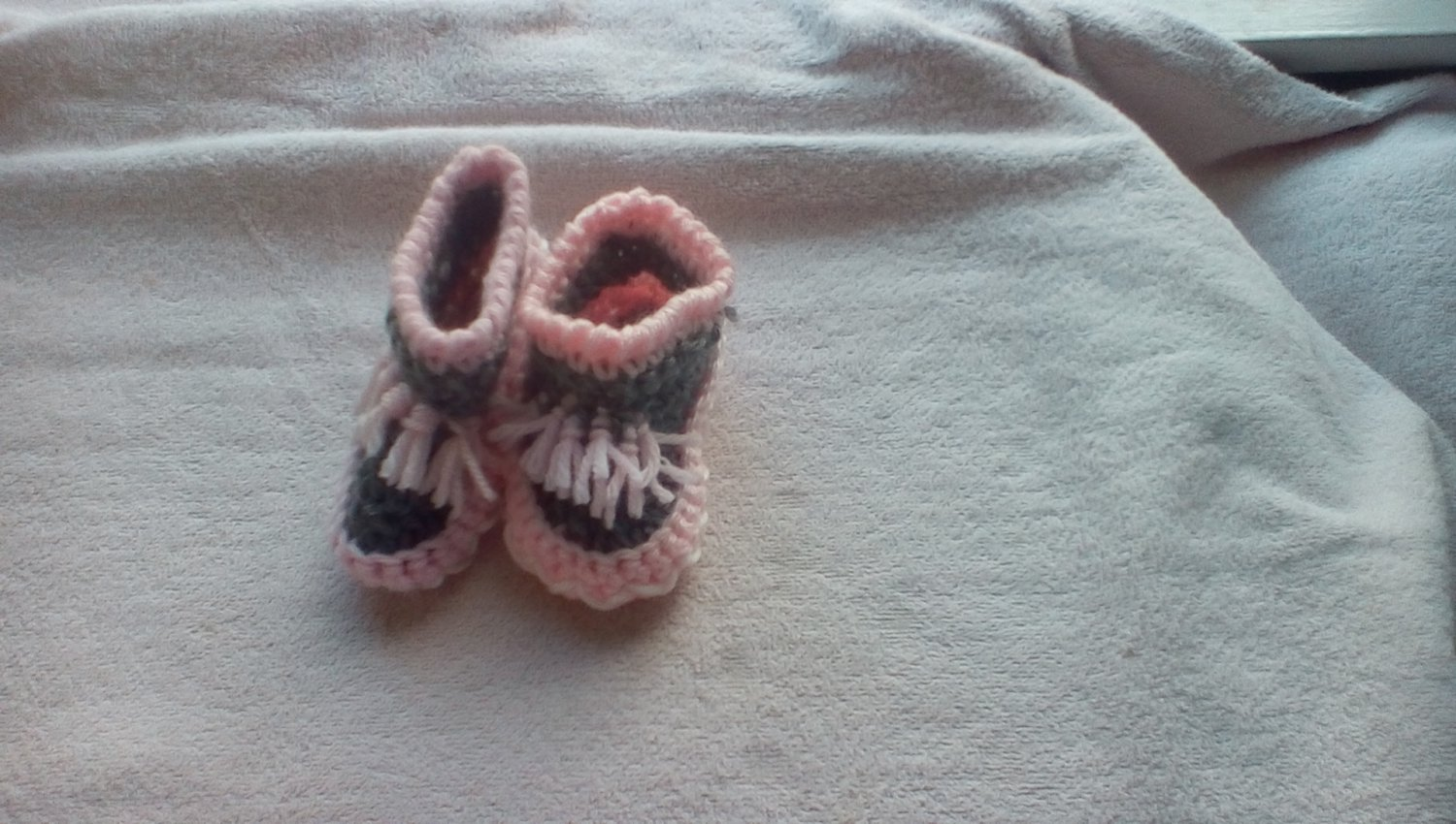 Newborn two toned moccasins