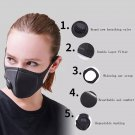 Anti Dust Training Masks Face Carbon Face Mask Mouth-muffle Cycling Masks Face Cover Winter