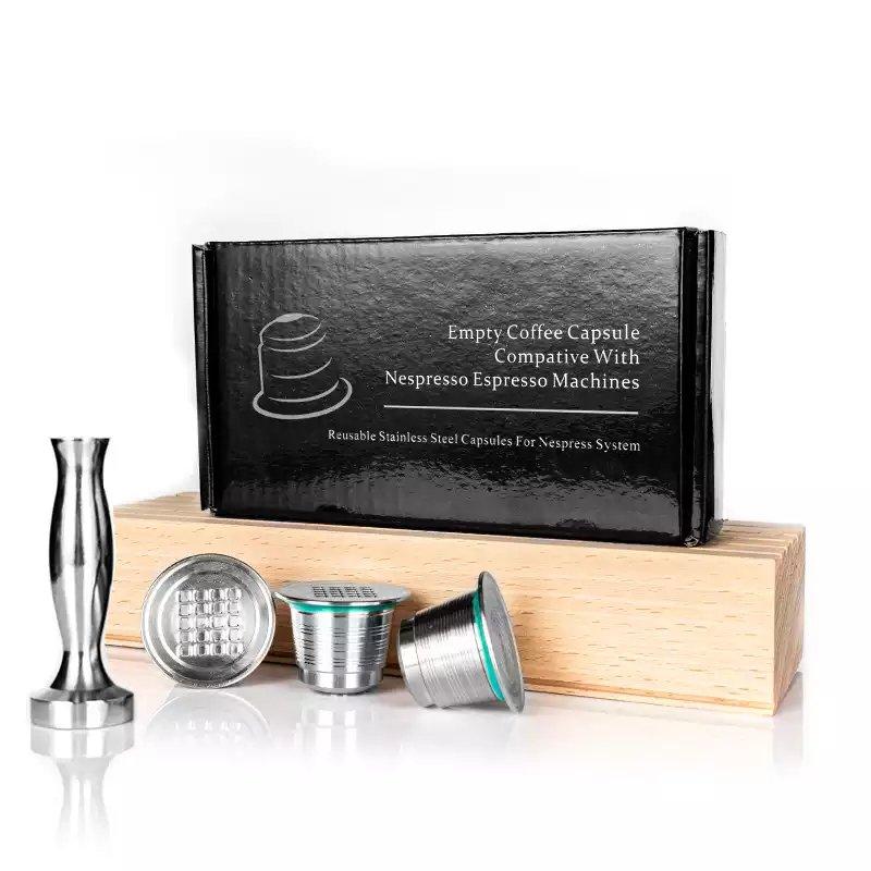 3PCS/Nespresso Refillable Coffee Capsule Pod Stainless Steel Espresso.Reutilisable