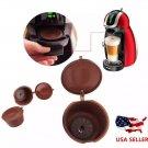 3PCS/ reutilizunids ables capsule coffee Dolce Gusto, rechargeable plastic capsules