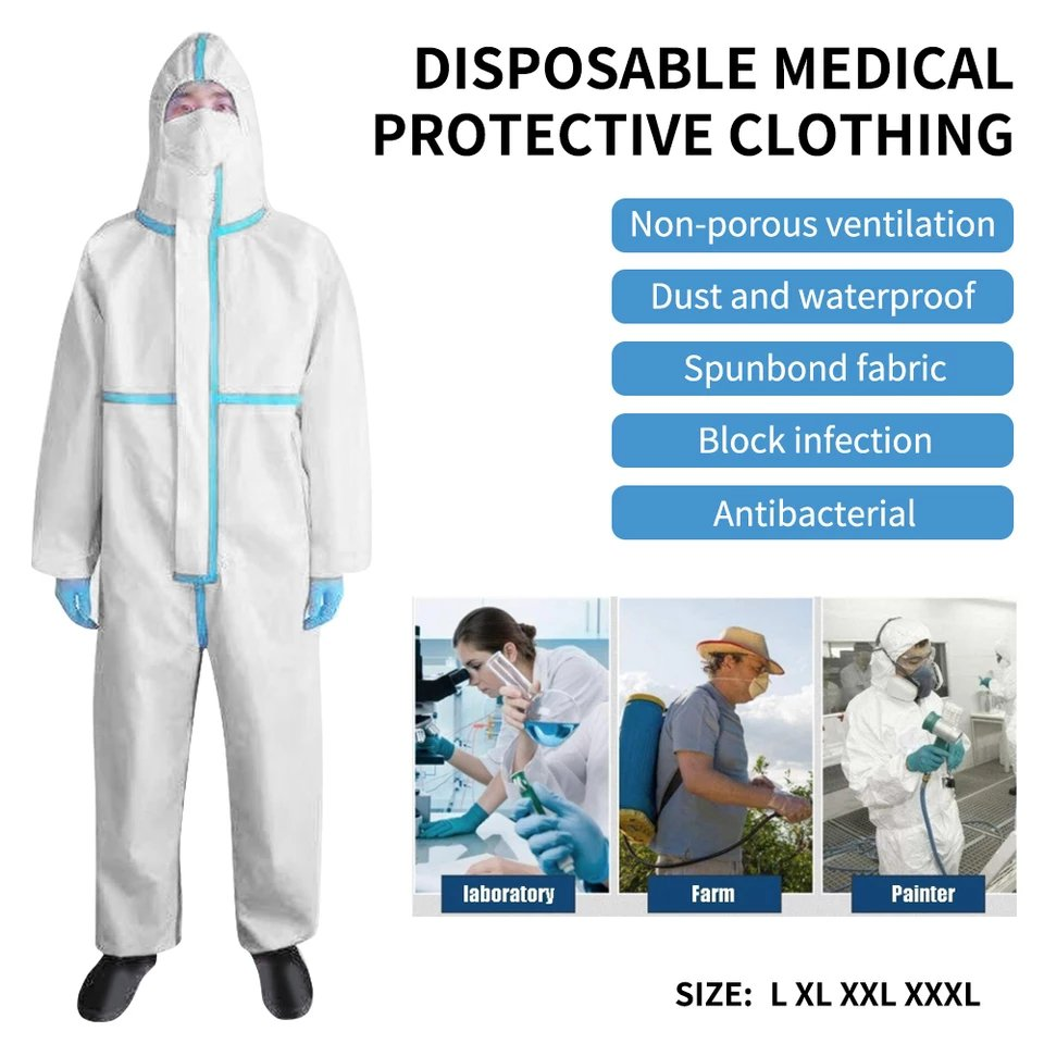 disposable medical protective clothing is made of two layers