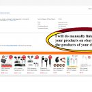 I will manually linking each of your products on ebay
